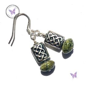 Silver Celtic Russian Serpentine Earrings